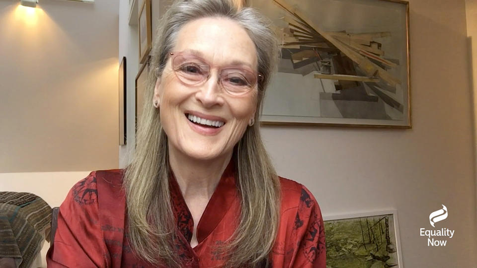 UNSPECIFIED - DECEMBER 03: Meryl Streep speaks during Equality Now's Virtual Make Equality Reality Gala on December 03, 2020 in UNSPECIFIED, United States. (Photo by Getty Images/Getty Images for Equality Now)
