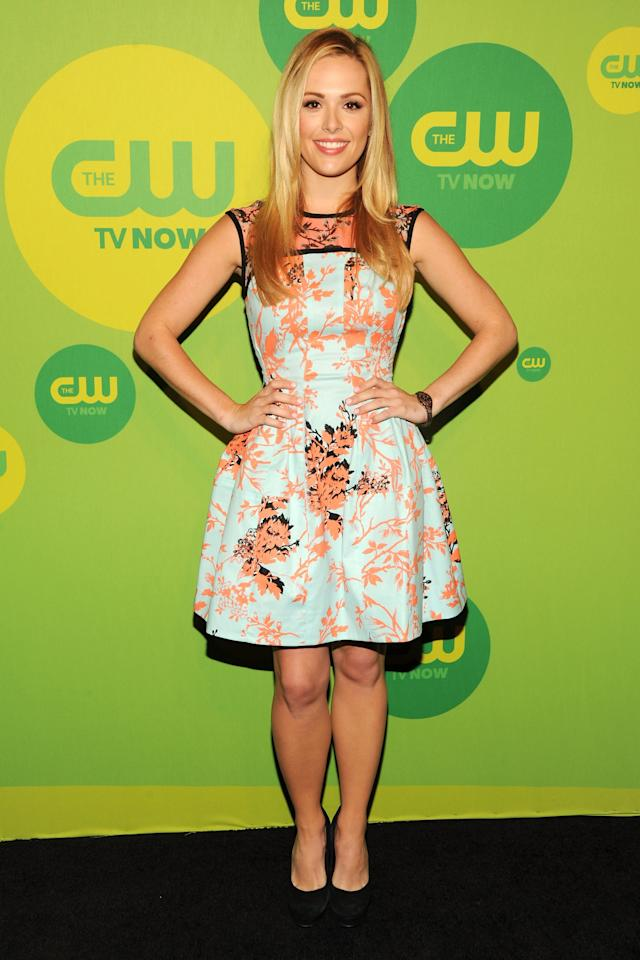 NEW YORK, NY - MAY 16:  Actress Natalie Hall attends The CW Network's New York 2013 Upfront Presentation at The London Hotel on May 16, 2013 in New York City.  (Photo by Ben Gabbe/Getty Images)
