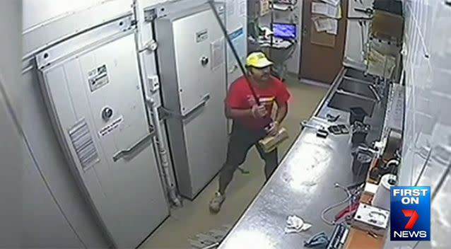 When his attacker grabbed a metal kitchen tool, Mr Shukla responded by grabbing a broom. Photo: 7 News