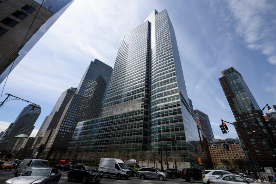 The headquarters of Goldman Sachs is pictured April 17, 2019 in New York City. — AFP pic