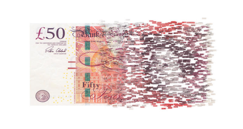 Pound bill splits. Photo: Getty