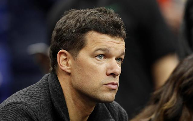 Basketball - NBA - Boston Celtics vs Philadelphia 76ers - O2 Arena, London, Britain - January 11, 2018 Former Germany footballer Michael Ballack before the game REUTERS/Matthew Childs