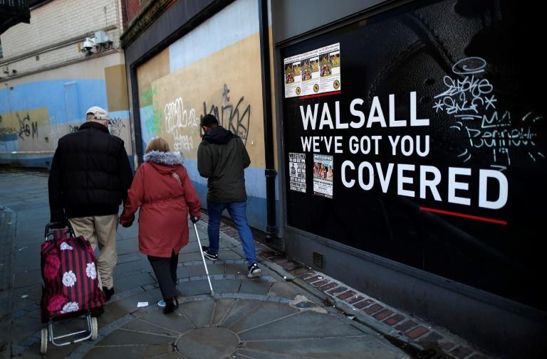 With its deserted streets and closed shops, the centre of Walsall bears witness to Britain's retail crisis (AFP Photo/DARREN STAPLES)