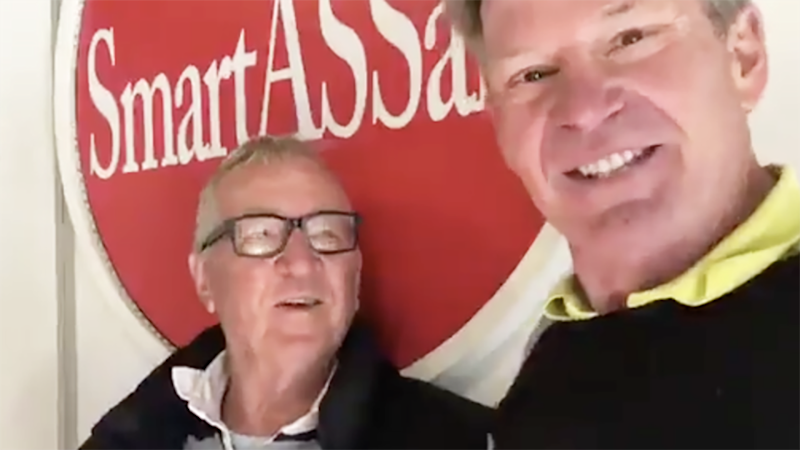 Mike Sheehan, pictured here on his podcast with Sam Newman.