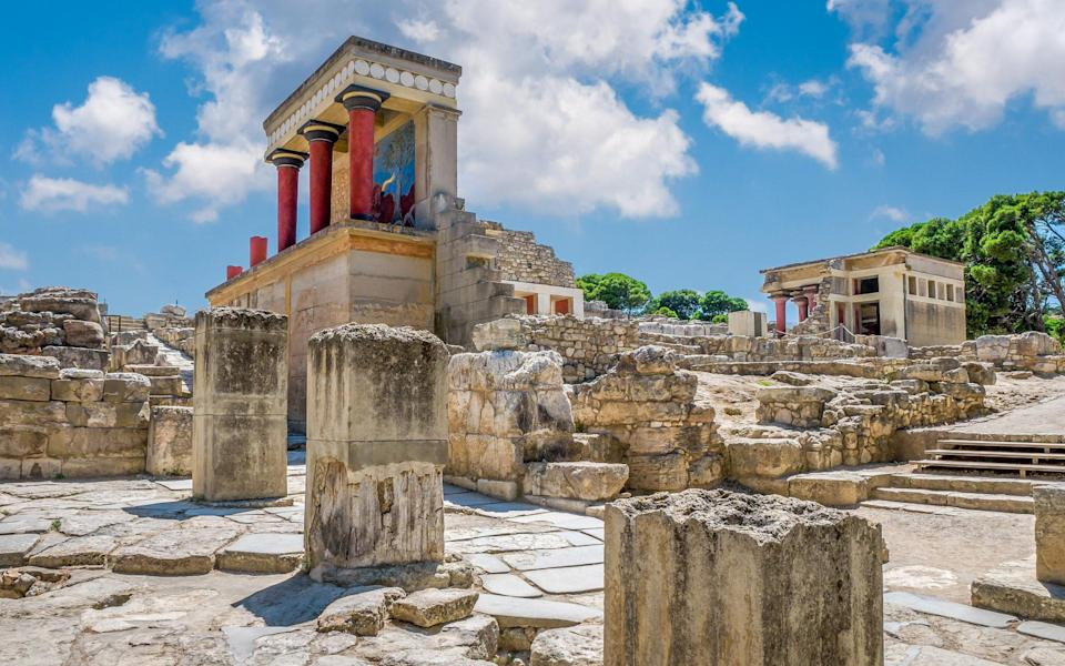 A call at Heraklion, Crete, means a visit to the ruins of the Minoan palace at Knossos - GETTY