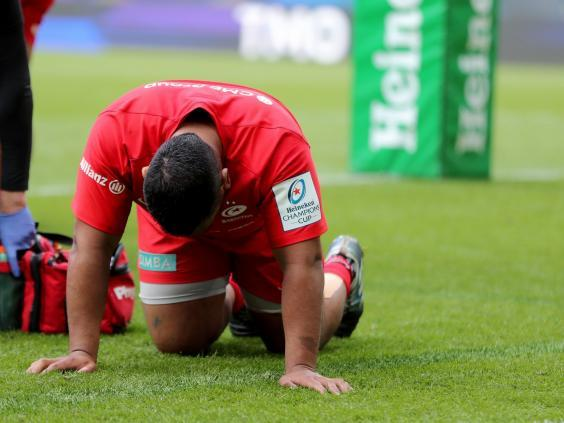 Mako Vunipola has been ruled out of the rest of the season with a torn hamstring (PA)