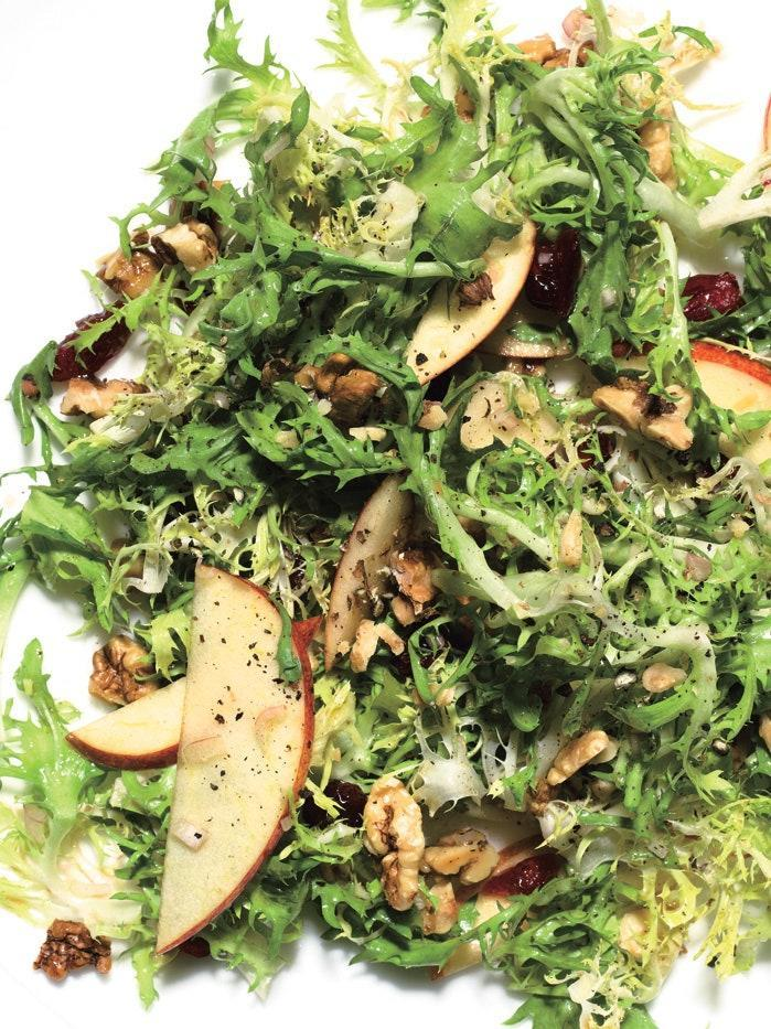 """To make this fresh salad, you'll need the following on hand: olive oil, apple cider vinegar, walnuts, a Gala apple, tart cherries, minced shallots, honey, and frisée. <a href=""""https://www.epicurious.com/recipes/food/views/frisee-and-apple-salad-with-dried-cherries-and-walnuts-243387?mbid=synd_yahoo_rss"""" rel=""""nofollow noopener"""" target=""""_blank"""" data-ylk=""""slk:See recipe."""" class=""""link rapid-noclick-resp"""">See recipe.</a>"""