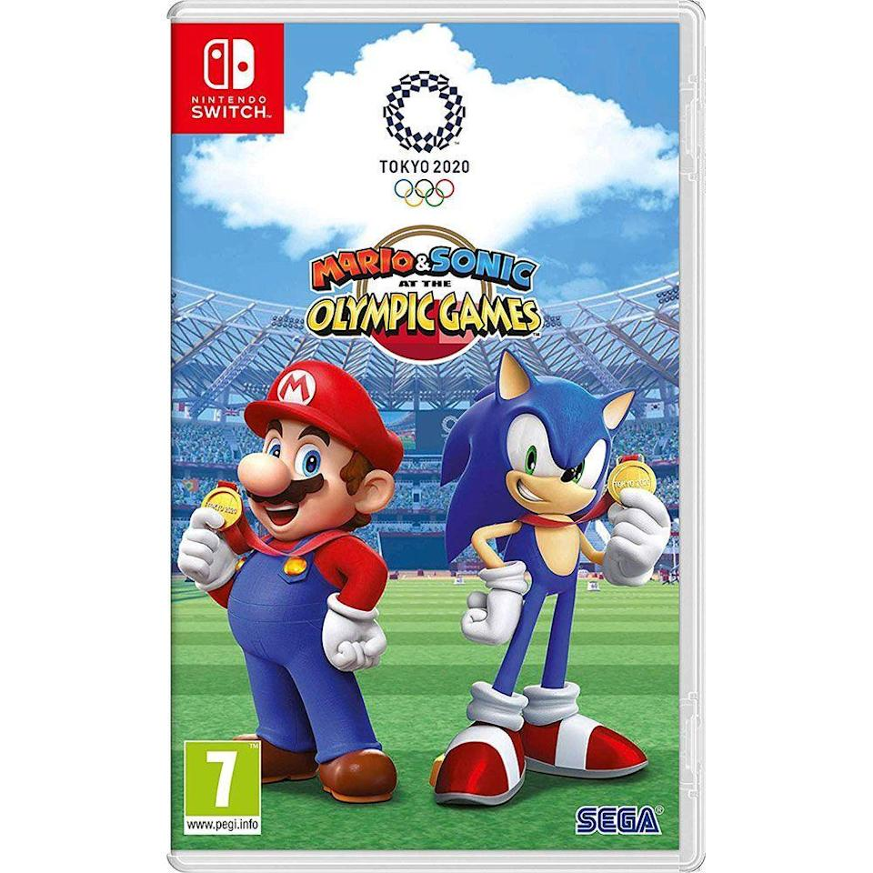 """<p><strong>SEGA</strong></p><p>amazon.com</p><p><strong>$39.99</strong></p><p><a href=""""https://www.amazon.com/dp/B07SXNKFGS?tag=syn-yahoo-20&ascsubtag=%5Bartid%7C10055.g.29749838%5Bsrc%7Cyahoo-us"""" rel=""""nofollow noopener"""" target=""""_blank"""" data-ylk=""""slk:SHOP NOW"""" class=""""link rapid-noclick-resp"""">SHOP NOW</a></p><p>Mario, Sonic and their friends compete against each other in summer olympic events including everything from equestrian challenges to karate ... and even a few non-olympic mini-games. It's as fun to watch as it is to play.</p>"""