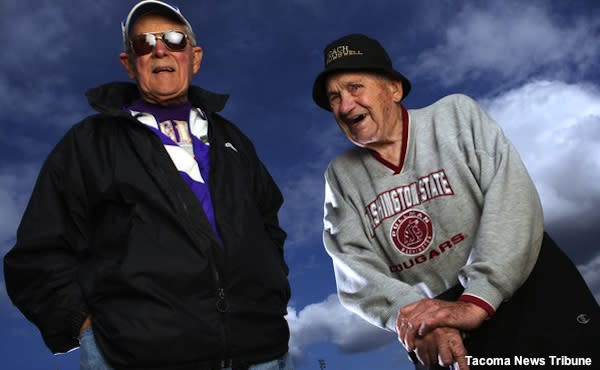 North Thurston track coaches Kay Thomas and George Rowswell