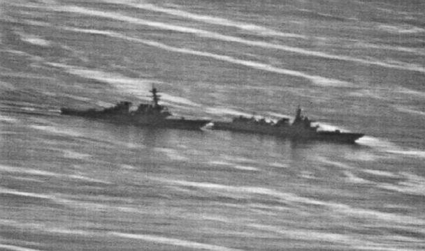 PHOTO: US Navy photo obtained by gcaptain.com of the USS Decatur's close encounter with a Chinese warship on September 30, 2018. (Photos obtained by gCaptain)