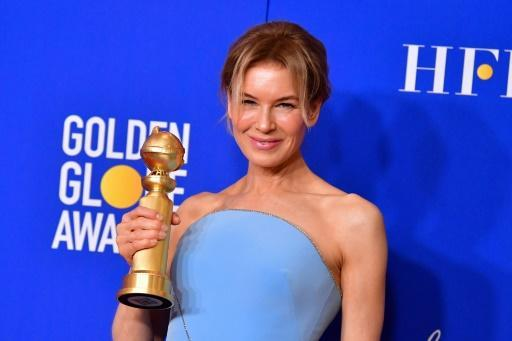 """US actress Renee Zellweger won as expected for best drama film actress for her turn as an aging Judy Garland in """"Judy"""""""