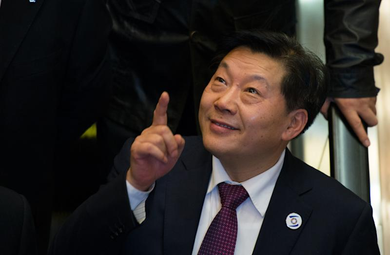 Lu Wei, China's Minister of Cyberspace Affairs Administration, seen after giving a speech at the opening ceremony of the World Internet Conference in Wuzhen, eastern China's Zhejiang province, on November 19, 2014 (AFP Photo/Johannes Eisele)
