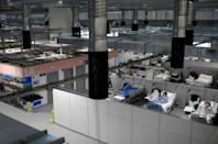 The Covid-19 wing of the Enfermera Isabel Zendal new emergency hospital, in Madrid on January 27, 2021