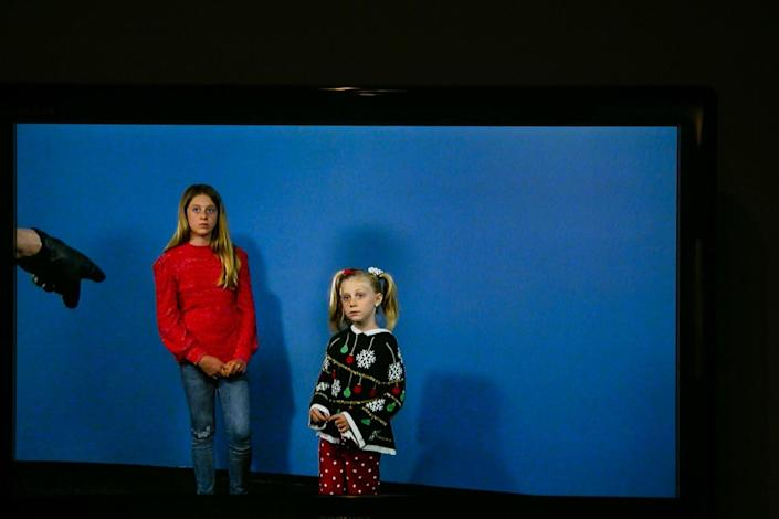 Sisters Chloe and Brooke Bowling at a commercial audition