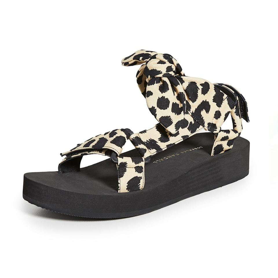 """A bow style with some animal-print flair, this is the ultimate option if you want some sass with your sandals. $195, Loeffler Randall. <a href=""""https://www.shopbop.com/maisie-sport-sandal-loeffler-randall/vp/v=1/1534684268.htm?"""" rel=""""nofollow noopener"""" target=""""_blank"""" data-ylk=""""slk:Get it now!"""" class=""""link rapid-noclick-resp"""">Get it now!</a>"""