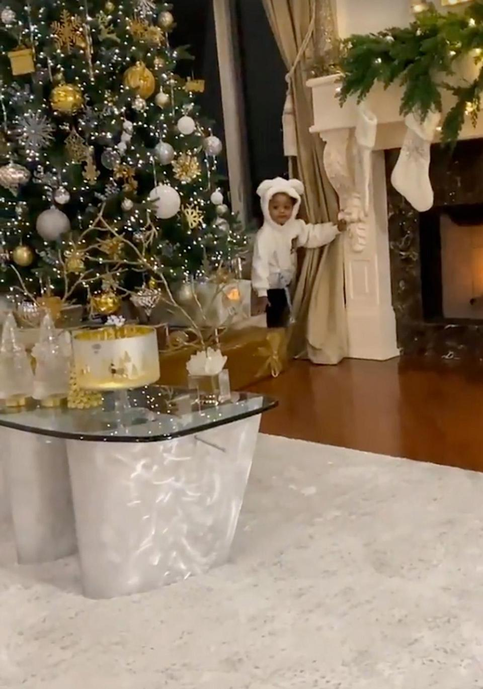 """<p>Cardi B's Christmas decor may be so over-the-top, <a href=""""https://people.com/music/cardi-b-she-shows-off-beautiful-christmas-decorations-i-cant-believe-this-is-my-home/"""" rel=""""nofollow noopener"""" target=""""_blank"""" data-ylk=""""slk:even the rapper herself can't believe it"""" class=""""link rapid-noclick-resp"""">even the rapper herself can't believe it</a> — but cute Kulture Kiari still manages to outshine it all. </p>"""