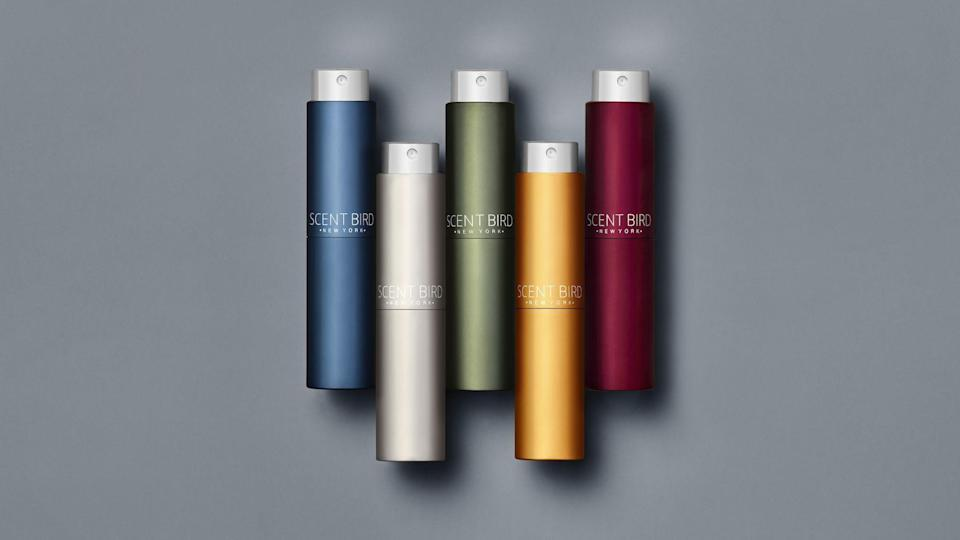 """<p><strong>Scentbird</strong></p><p>scentbird.com</p><p><a href=""""https://go.redirectingat.com?id=74968X1596630&url=https%3A%2F%2Fwww.scentbird.com%2Fgift&sref=https%3A%2F%2Fwww.redbookmag.com%2Flife%2Fg36197559%2Fgifts-for-dad-who-has-everything%2F"""" rel=""""nofollow noopener"""" target=""""_blank"""" data-ylk=""""slk:Shop Now"""" class=""""link rapid-noclick-resp"""">Shop Now</a></p><p>If he wants a new cologne and you're not sure where to start, let Scentbird take care of it. Each month, he can pick from top brands like John Varvatos and Kenneth Cole, and they'll send him a travel-size spray to try out.<br></p>"""