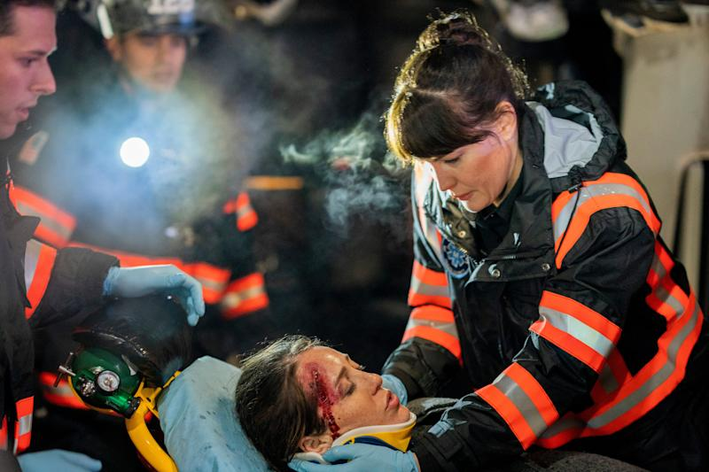 Liv Tyler, right, plays chief paramedic Michelle Blake in Fox's '9-1-1: Lone Star,' a first-responder drama set in Austin, Texas.