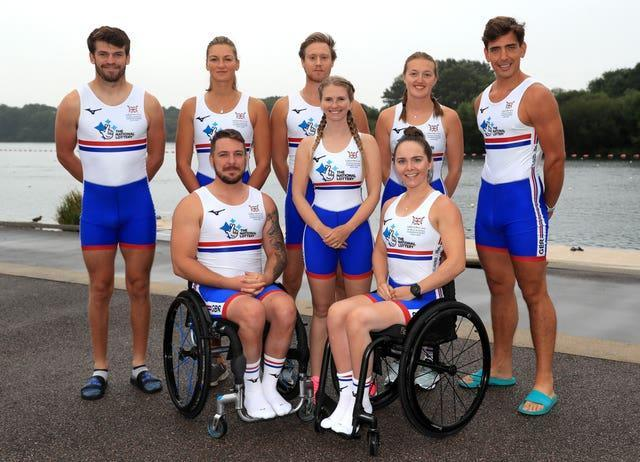 ParalympicsGB's rowing squad for Tokyo comprises Oliver Stanhope, Giedre Rakauskaite, Laurence Whiteley, Ellen Buttrick, James Fox (back row, left to right), Ben Pritchard, Erin Wysocki-Jones and Lauren Rowles (front row, left to right)