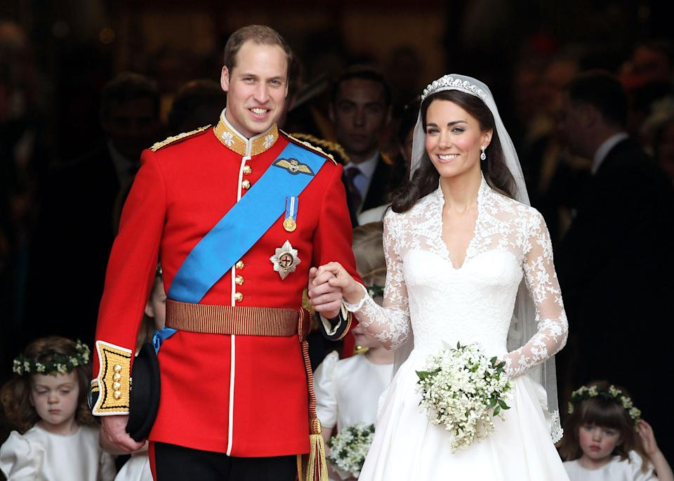 <p>On 29 April 2011, William and Kate married at Westminster Abbey in front of nearly 2,000 guests and with millions of people watching around the world. They held a reception at Buckingham Palace. (Photo by Chris Jackson/Getty Images)</p>