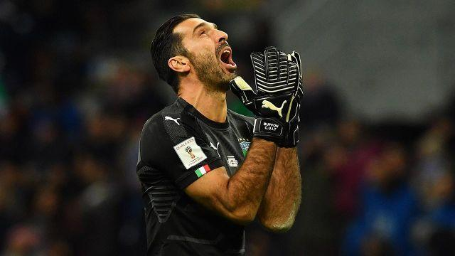 Buffon frustrated as Italy miss out on World Cup qualification. Pic: Getty