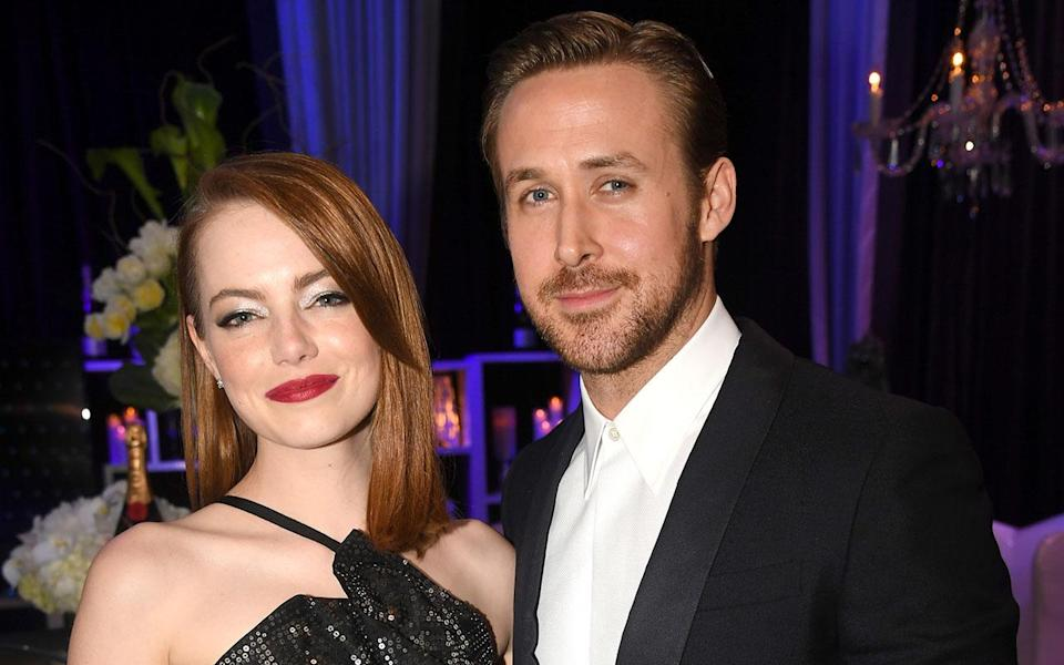 Emma Stone and Ryan Gosling, stars of hot awards contender 'La La Land', are both nominated at the 2017 Golden Globes (Credit: Getty Images/Jeff Kravitz)