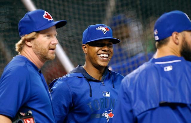 Marcus Stroman might want to lace up his cleats better next time. (Getty Images)