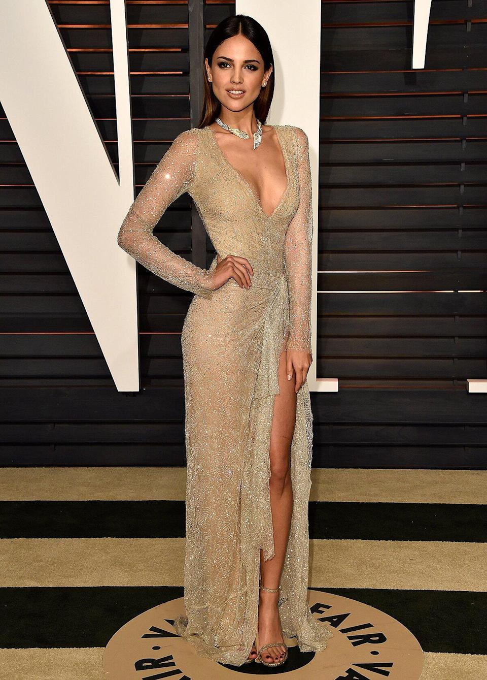 Actress Eiza Gonzalez attends the 2015 Vanity Fair Oscar Party hosted by Graydon Carter at Wallis Annenberg Center for the Performing Arts on February 22, 2015