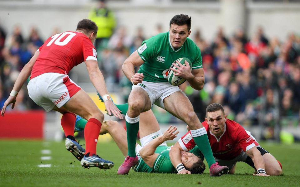 On the pitch, Jacob Stockdale will be deployed at full back for the first time against Italy - GETTY IMAGES