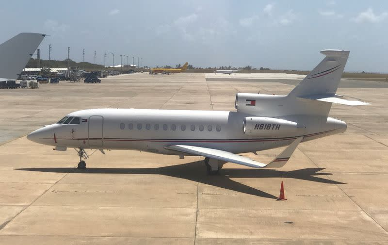 FILE PHOTO: General view of the private jet  at Barbados' Grantley Adams International Airport in Barbados