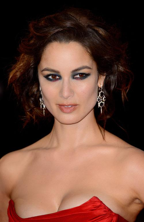 Berenice Marlohe Works The Peacock Eye Trend At The Skyfall Premiere In London