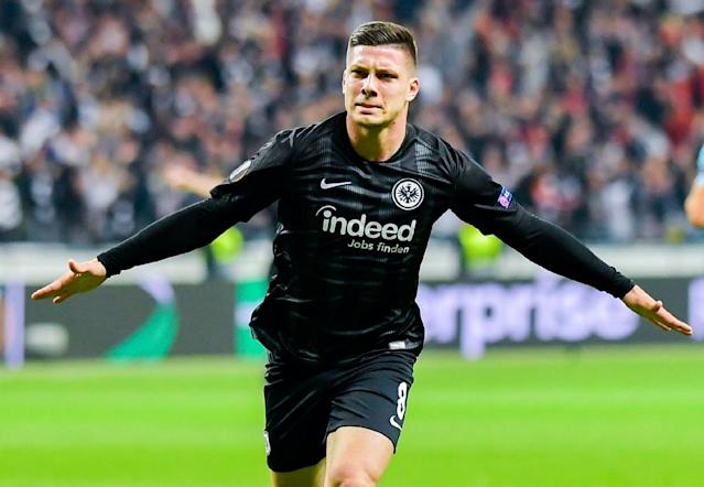 Luka Jovic heads to Real Madrid on a six-year transfer from Eintracht Frankfurt (AFP Photo/Uwe Anspach)