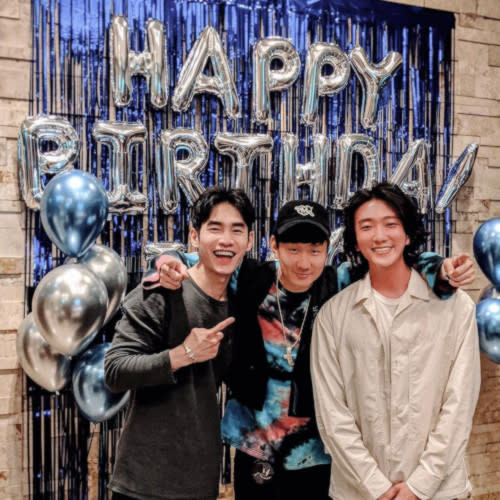 JJ also had another birthday bash earlier