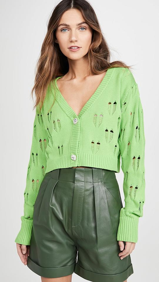 """<p>The blingy buttons on this <a href=""""https://www.popsugar.com/buy/Kendall-Kylie-Ripped-Knit-Cropped-Cardigan-556196?p_name=Kendall%20%2B%20Kylie%20Ripped%20Knit%20Cropped%20Cardigan&retailer=shopbop.com&pid=556196&price=79&evar1=fab%3Aus&evar9=47301185&evar98=https%3A%2F%2Fwww.popsugar.com%2Ffashion%2Fphoto-gallery%2F47301185%2Fimage%2F47301420%2FKendall-Kylie-Ripped-Knit-Cropped-Cardigan&list1=shopping%2Cshopbop%2Cspring%20fashion%2Cfashion%20shopping%2Caffordable%20shopping%2Cunder%20%24100&prop13=mobile&pdata=1"""" rel=""""nofollow"""" data-shoppable-link=""""1"""" target=""""_blank"""" class=""""ga-track"""" data-ga-category=""""Related"""" data-ga-label=""""https://www.shopbop.com/ripped-knit-cropped-cardigan-kendall/vp/v=1/1502368650.htm?folderID=13198&amp;fm=other-shopbysize-viewall&amp;os=false&amp;colorId=10167&amp;ref=SB_PLP_NB_85"""" data-ga-action=""""In-Line Links"""">Kendall + Kylie Ripped Knit Cropped Cardigan </a> ($79) are a fun touch.</p>"""
