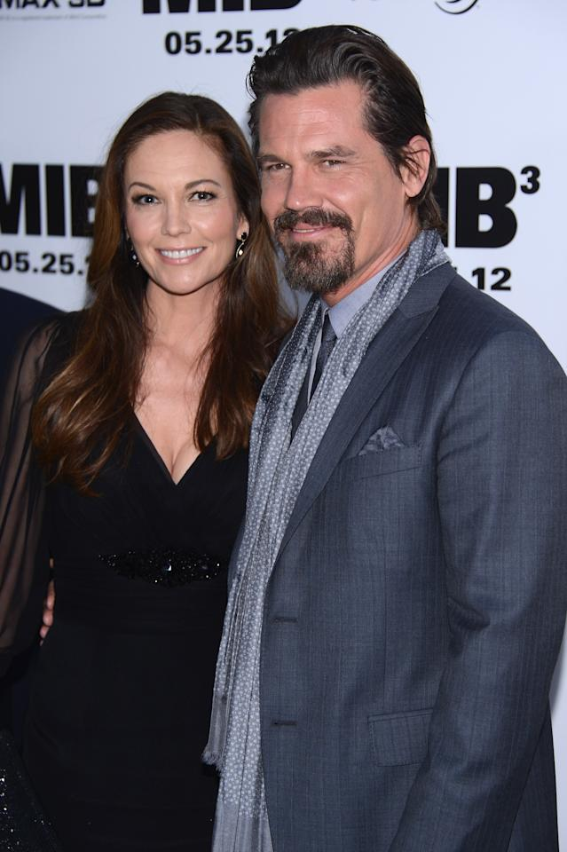 """NEW YORK, NY - MAY 23:  Diane Lane and Josh Brolin attend the """"Men In Black 3"""" New York Premiere at Ziegfeld Theatre on May 23, 2012 in New York City.  (Photo by Stephen Lovekin/Getty Images)"""