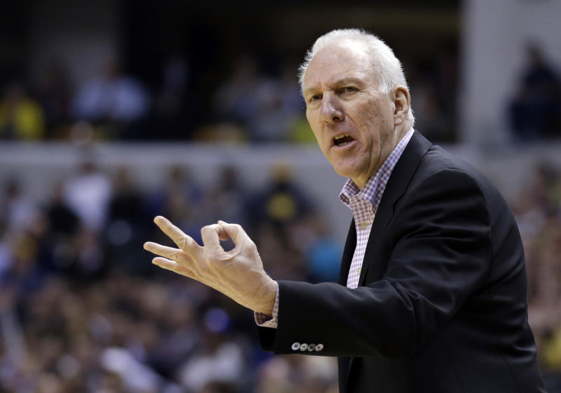 spurs gregg popovich wins 2013 14 nba coach of the year award