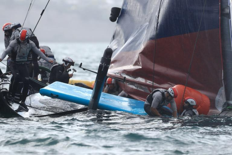 All on board were safely accounted for but the multi-million dollar yacht appeared significantly damaged