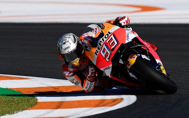Marc Marquez during free practice this morning (Friday) - AFP