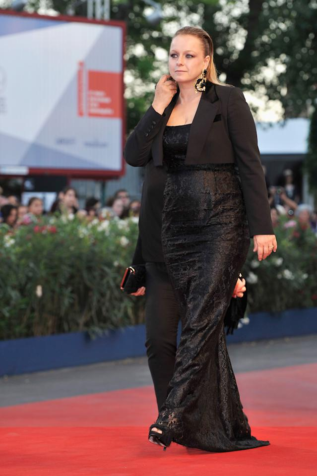 "VENICE, ITALY - SEPTEMBER 08:  Fashion designer Samantha Morton attends the Award Ceremony And ""L'Homme Qui Rit"" Premiere during The 69th Venice Film Festival at the Palazzo del Cinema on September 8, 2012 in Venice, Italy.  (Photo by Gareth Cattermole/Getty Images)"