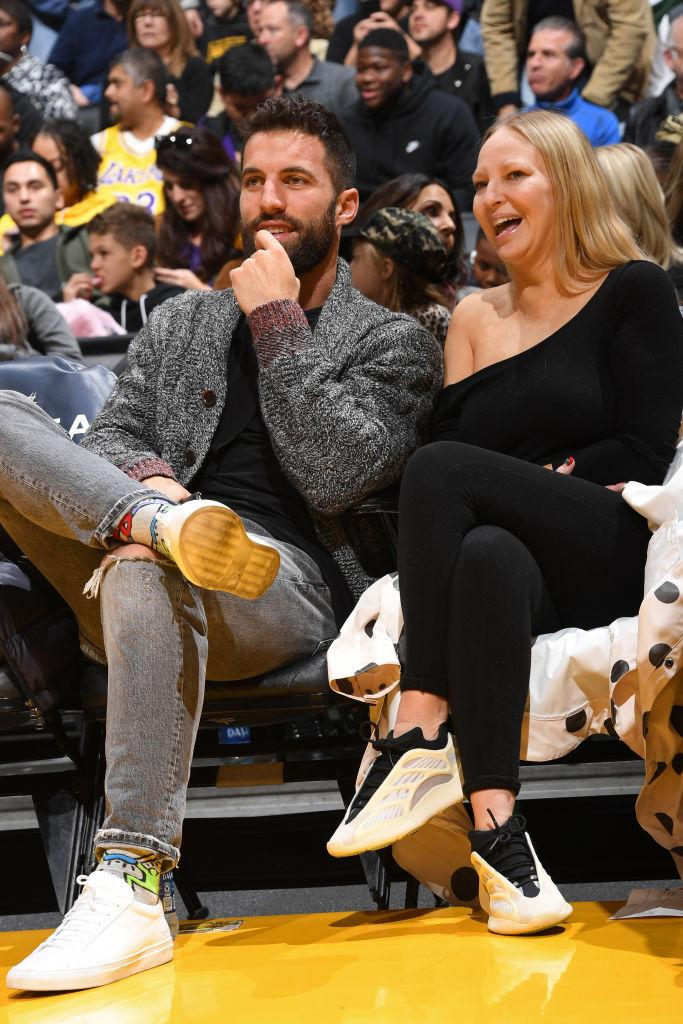 Singer-songwriter Sia attends the game between the Los Angeles Lakers and the Phoenix Suns on January 1, 2020 at STAPLES Center in Los Angeles, California.