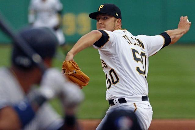 "<a class=""link rapid-noclick-resp"" href=""/mlb/players/9123/"" data-ylk=""slk:Jameson Taillon"">Jameson Taillon</a> returned to the mound just three weeks after having surgery to for testicular cancer. (AP Photo)"