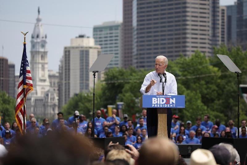 President Donald Trump doesn't know who will be his opponent yet in 2020, but the current frontrunner is former US vice president Joe Biden (AFP Photo/Dominick Reuter)
