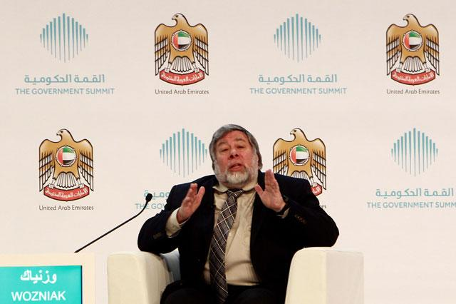 Woz the whizzkid at Government Summit