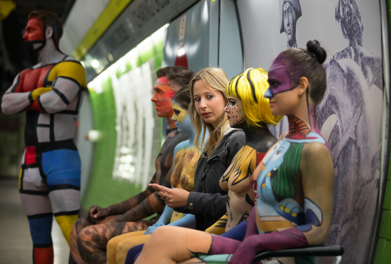 Mind the gap... Do you recognise the artwork on these models? (Picture: Rise Art)