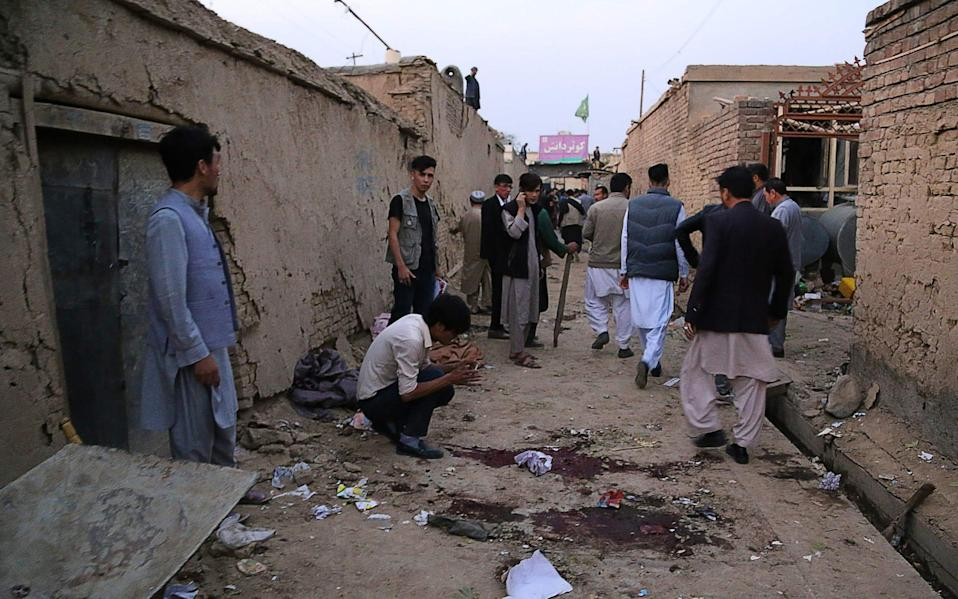A suicide bomber struck near an education centre in the Afghan capital - AFP