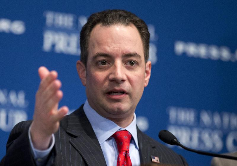"""FILE - In this March 18, 2013 file photo, Republican National Committee (RNC) Chairman Reince Priebus speaks at the National Press Club in Washington. National Republican leaders made waves recently with a dim view of the party's future if it fails to expand its core support beyond white males and social conservatives. But weeks after Priebus unveiled the """"Growth and Opportunity Project"""" report, many party players maintain that the problem is more about communication _ bad messengers saying the wrong things at the wrong times _ than policy positions, immigration being the exception.   (AP Photo/Manuel Balce Ceneta, File)"""