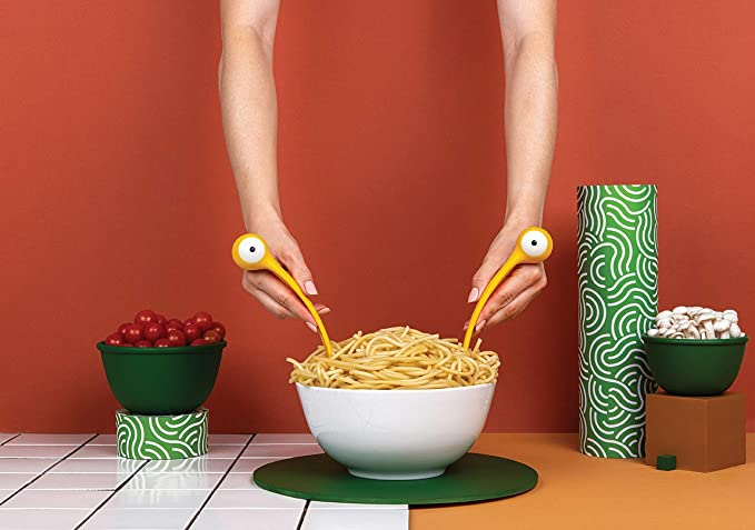 """<br><br><strong>OTOTO</strong> Pasta Monsters Pasta and Salad Servers, $, available at <a href=""""https://amzn.to/2OX1pep"""" rel=""""nofollow noopener"""" target=""""_blank"""" data-ylk=""""slk:Amazon"""" class=""""link rapid-noclick-resp"""">Amazon</a>"""