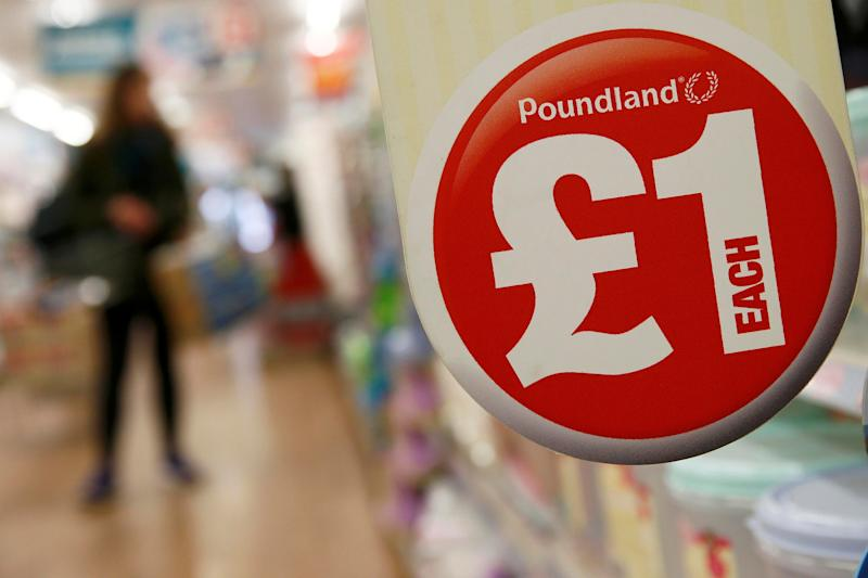 A sign in a Poundland store in London. Photo: Stefan Wermuth/Reuters