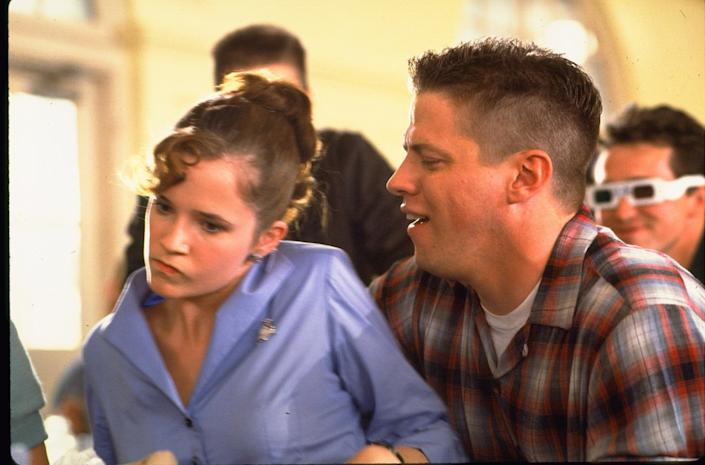 """Lea Thompson and Thomas F. Wilson in a scene from """"Back to the Future."""" <span class=""""copyright"""">(Universal)</span>"""