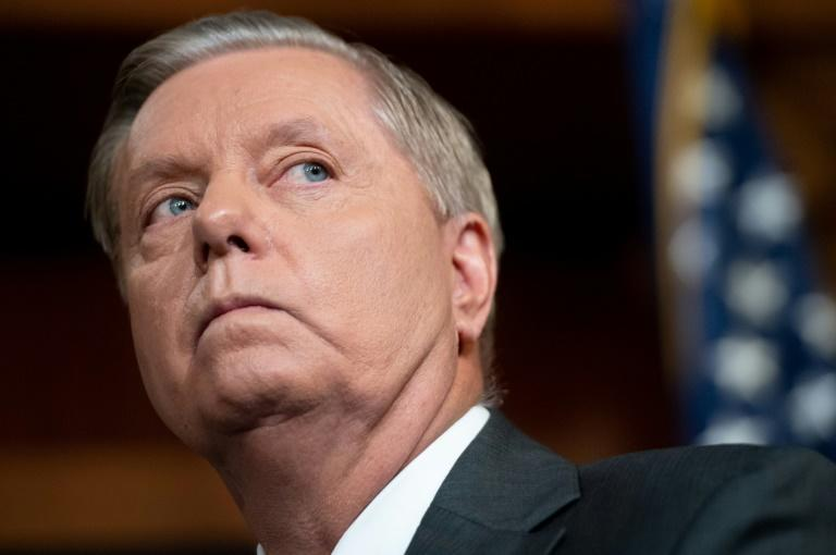 Republican Senator Lindsey Graham has been a fierce supporter of US President Donald Trump, but has warned he will not defend the commander in chief at all costs (AFP Photo/SAUL LOEB)